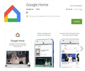 приложение Google Home