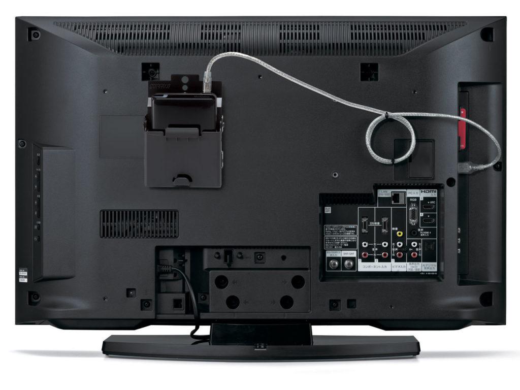 ТВ с подключенным внешним жестким диском